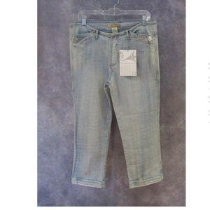 NEW Vintage Jou Jou Cropped Jeans Light Wash 13/14